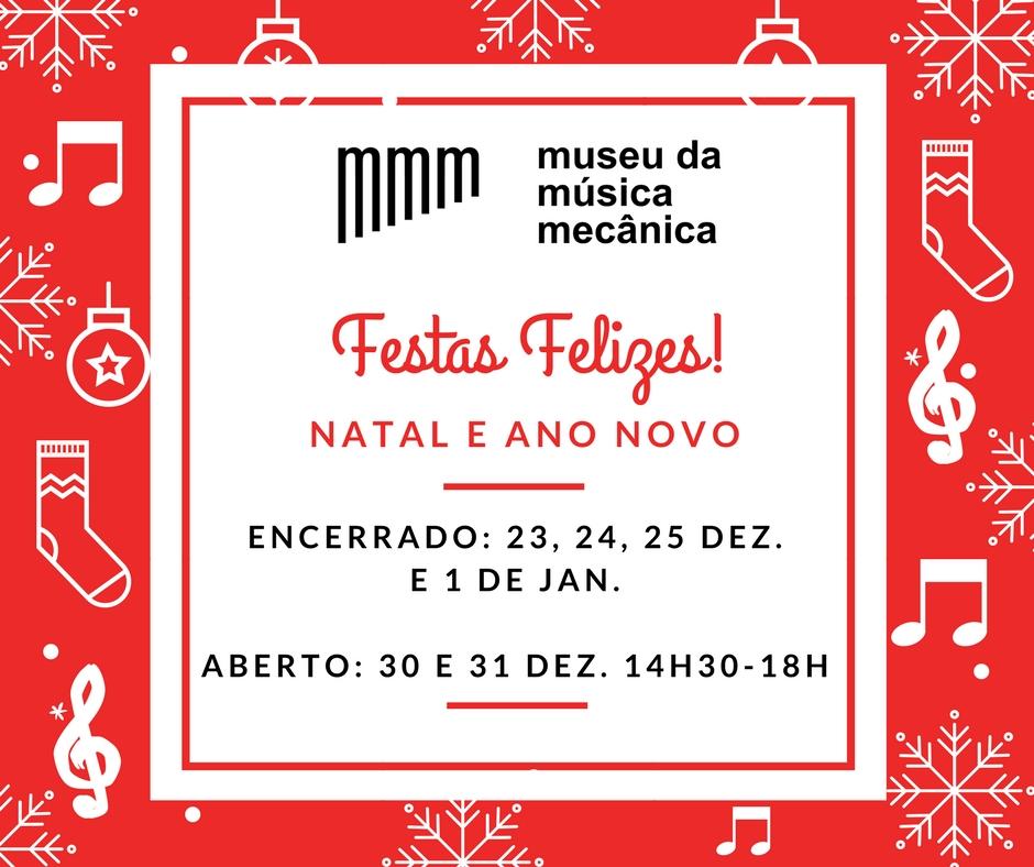 Dias e Horários - Natal e Ano Novo