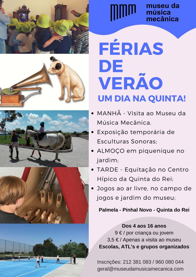 Ferias de verão 2018 - cartaz
